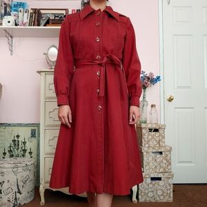 Vintage 70s Trench Coat with a Hood and Pockets